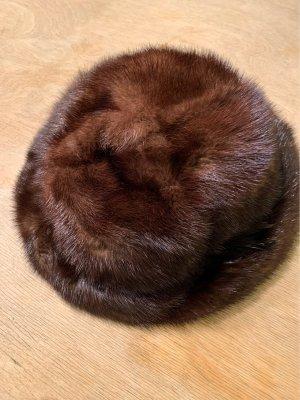 Fur Hat dark brown-brown pelt