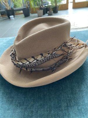 Folkloristische hoed beige