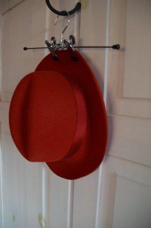 Vilten hoed rood Wol