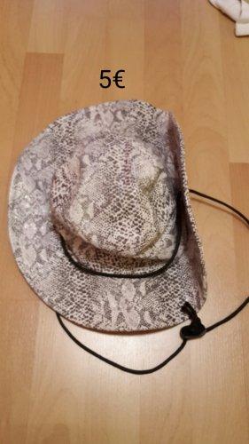 Cowboy Hat white imitation leather
