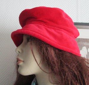 Chapeau à larges bords rouge-rouge clair coton