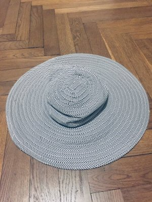 Zara Sun Hat white-dark blue cotton