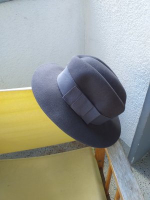 Woolen Hat grey brown-grey