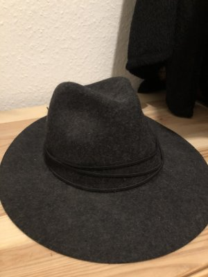 Topshop Woolen Hat dark grey-black wool