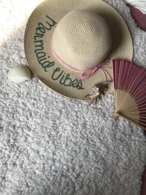 Sombrero de ala ancha beige