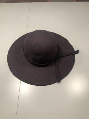 Chapeau à larges bords gris anthracite-gris foncé