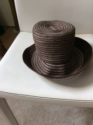 Sun Hat brown-natural white hemp