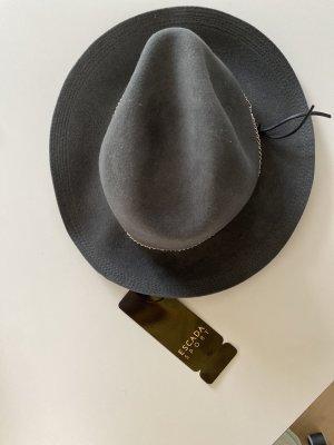 Escada Sport Wełniany kapelusz antracyt Wełna