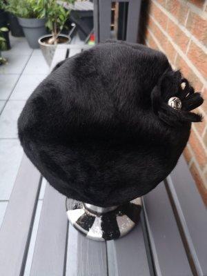 Hut Wolle schwarz