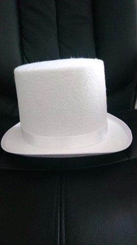 Haut-de-forme blanc tissu mixte