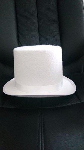 Sombrero de copa blanco tejido mezclado