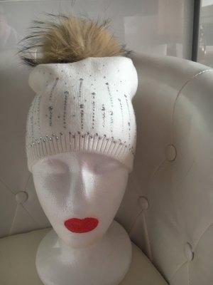 Cappello di lana bianco-bianco sporco