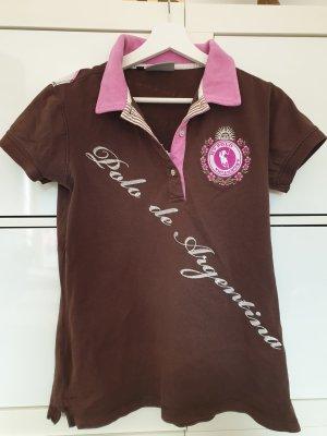 HV Polo Polo marrone scuro-rosa