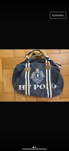 HV Polo Weekendtas wit-blauw