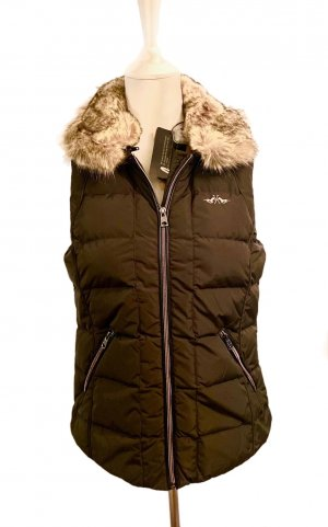 HV Polo Down Vest dark brown