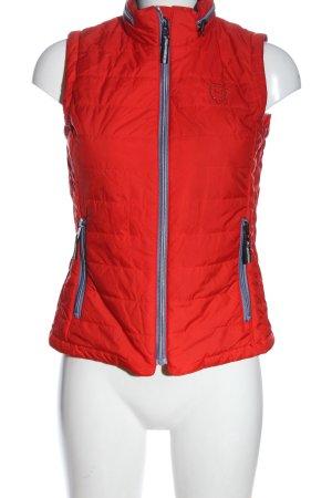 hv society Gilet matelassé rouge motif de courtepointe style décontracté