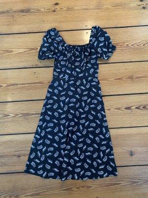 HVN Dress Kleid mit Leoparden Blätter Print Leo