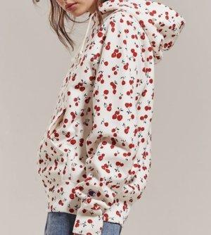HVN x Champion Hoodie Cherry Kapuzenpullover Sweater mit Kirschen-Print Weiß Sweatshirt S