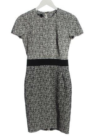 Hybrid Sukienka z krótkim rękawem biały-czarny Abstrakcyjny wzór