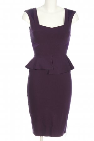 Hybrid Peplum Dress lilac business style