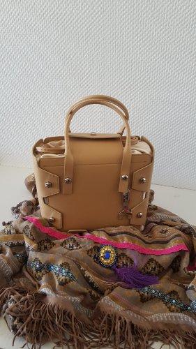 Borsa con manico color cammello