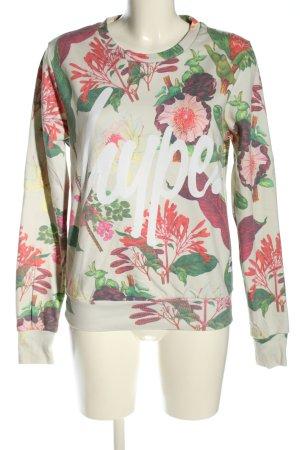 Hype Rundhalspullover Blumenmuster Casual-Look