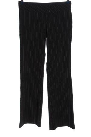 Hype Pantalone jersey nero-bianco motivo a righe stile casual