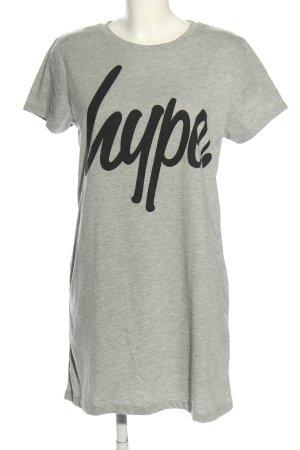 Hype T-Shirt hellgrau-schwarz meliert Casual-Look