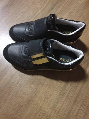 Hypnosy Sneaker con strappi nero-oro