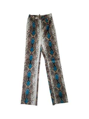 Pantalon taille haute multicolore