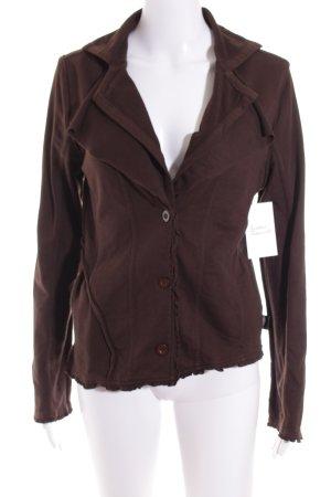 I am Blazer in jersey marrone scuro stile casual