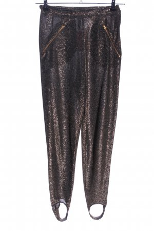 Strapped Trousers bronze-colored extravagant style