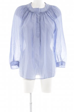 i heart Langarm-Bluse blau Business-Look
