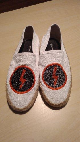 I love Candies ausgefallene Damen Espadrilles Schuhe  Slipper Gr.36 in weiß