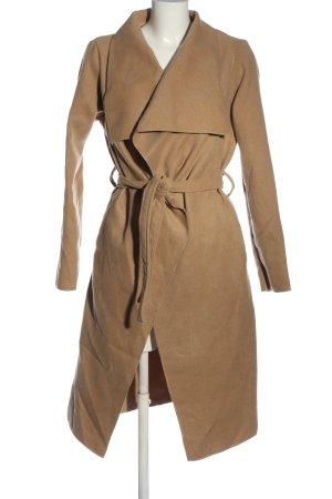 I LOVE DITO Długi płaszcz brązowy W stylu casual