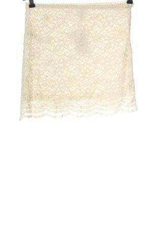 I Love H81 Falda de encaje blanco puro look casual