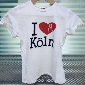 I love Köln T-Shirt weiß mit rotem Herz 34/36 XS/S Kölle Cologne