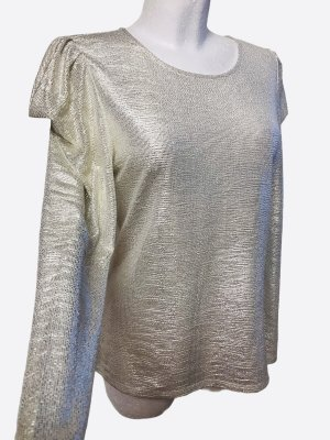 INC International Concepts Frill Top gold-colored