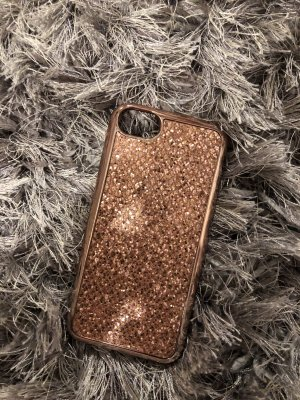 I phone 6/7/8 Handyhülle in rose-gold &Glitzer.