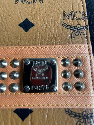 MCM Porte-clés brun-noir cuir