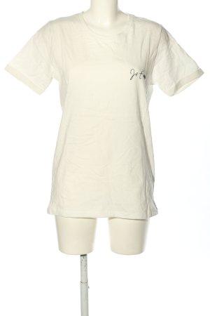 IamYours T-Shirt weiß Schriftzug gestickt Casual-Look