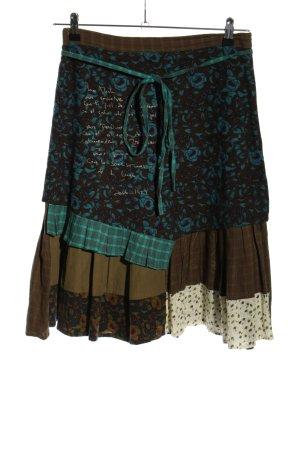 Ian Mosh Broomstick Skirt mixed pattern casual look