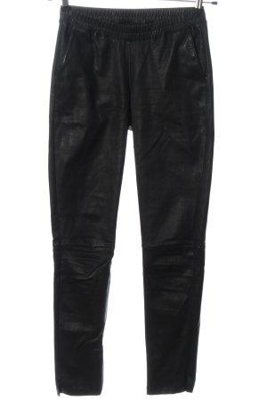 Ibana Leren broek zwart feest stijl