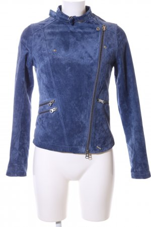 Ibana Lederjacke blau Casual-Look