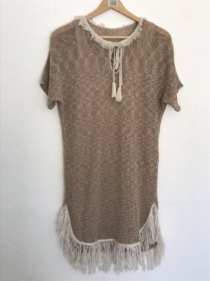 Robe à franges marron clair