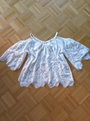 valerie khalfon paris Blusa in merletto bianco
