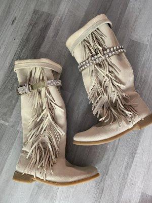 Western Laarzen licht beige Leer