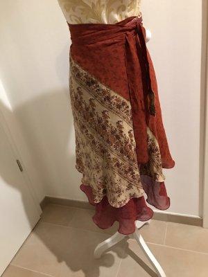 Wraparound Skirt bordeaux