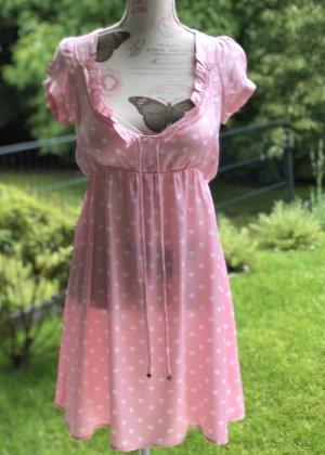 Isla Ibiza Bonita Sukienka typu babydoll biały-różowy