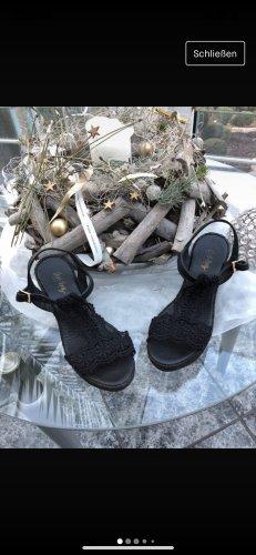 Ibiza last Plateauzool sandalen zwart